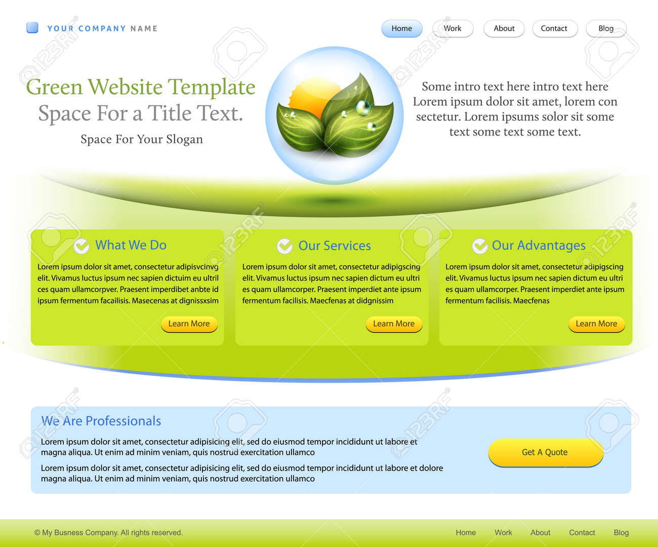 Website template for healthcare pharmacy or medical company royalty vector website template for healthcare pharmacy or medical company maxwellsz