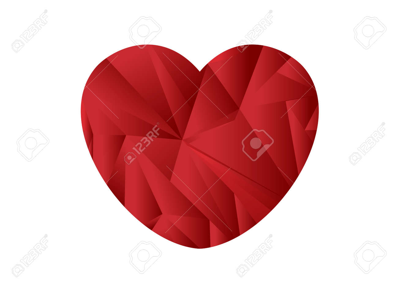 Japan flag heart shaped origami Stock Vector - 9520064