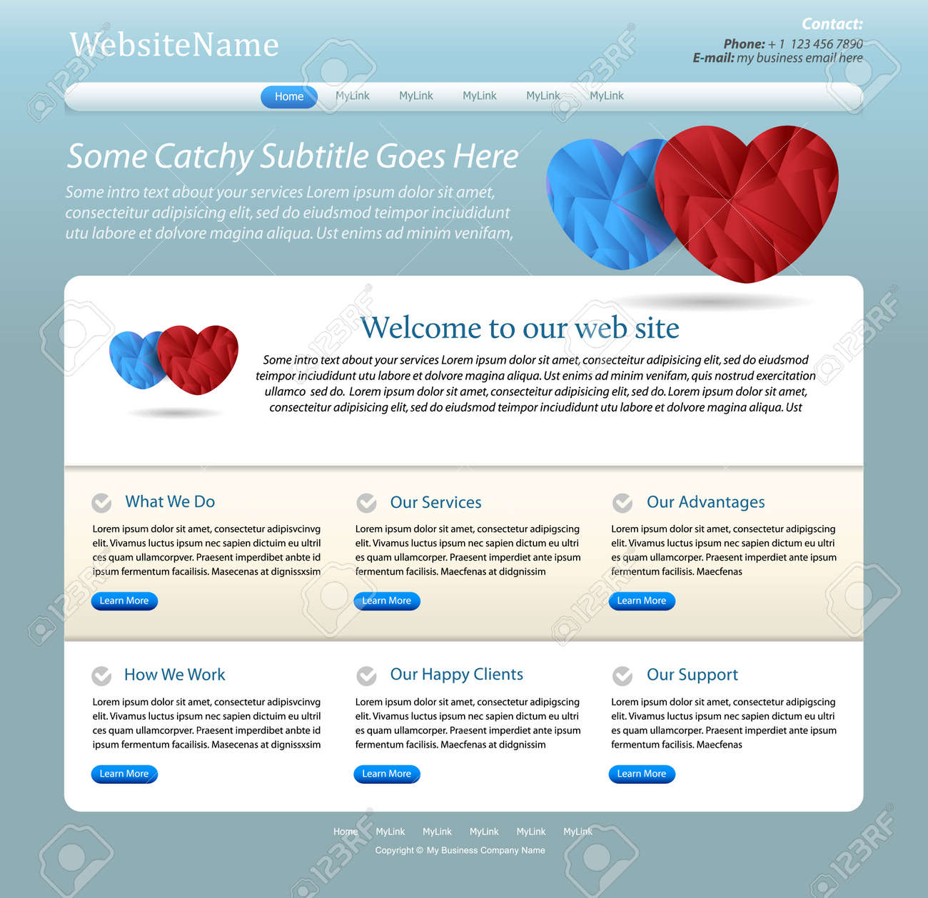 Website Template For Healthcare, Pharmacy Or Medical Company ...
