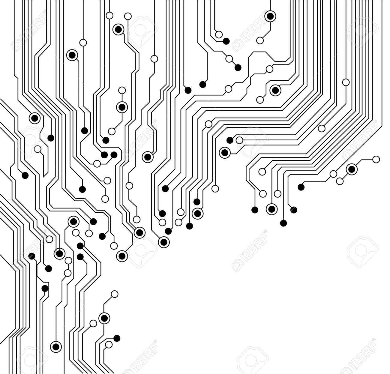 Circuit Board Background Texture - Isolated - Vector Is Available ...
