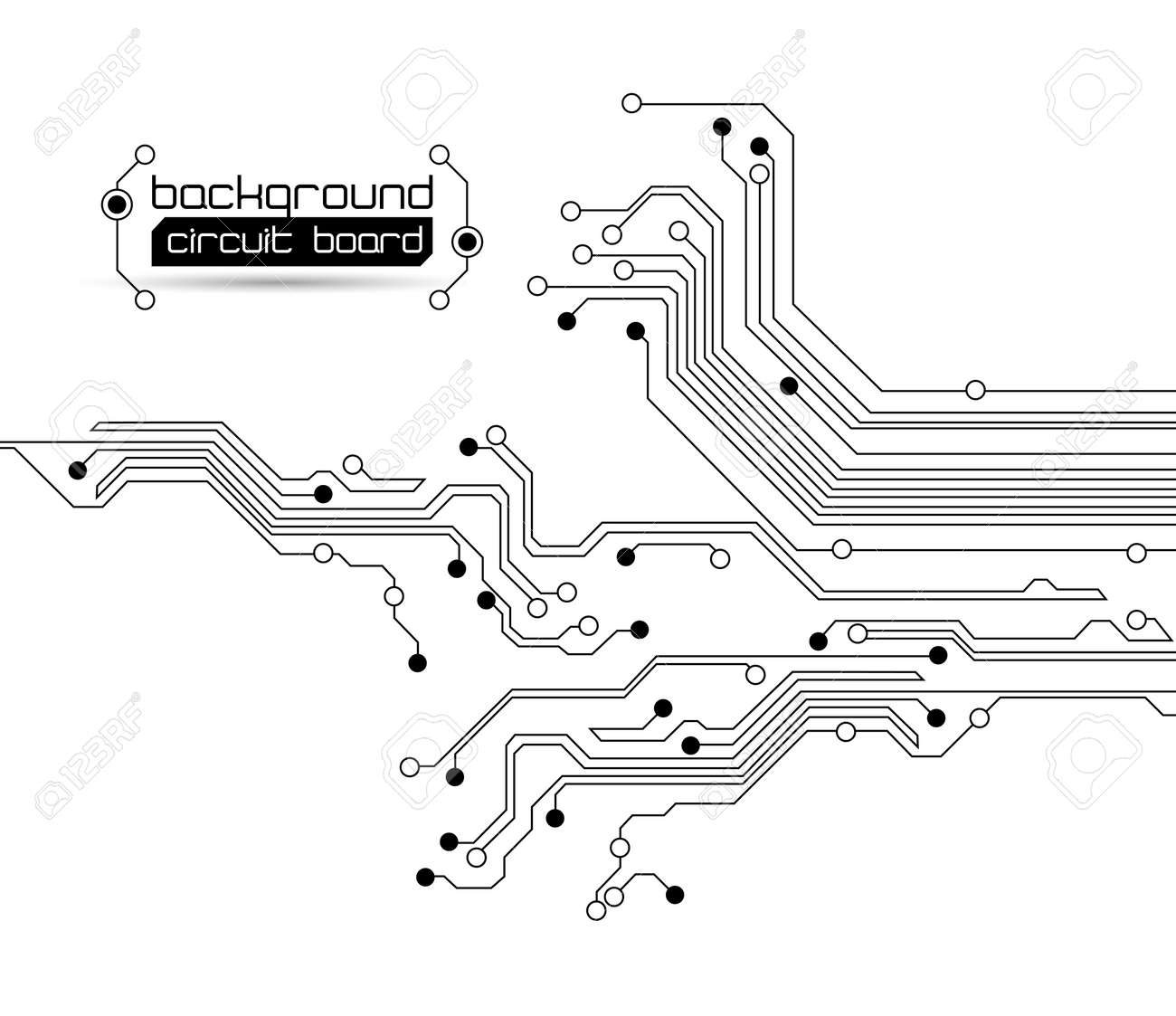 abstract circuit board background texture Stock Vector - 10375235