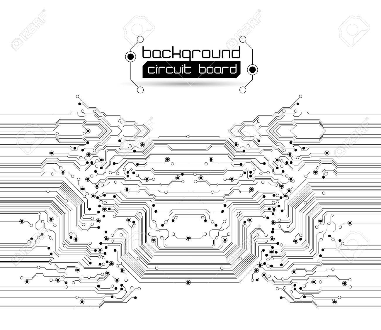 abstract circuit board background texture Stock Vector - 10508324