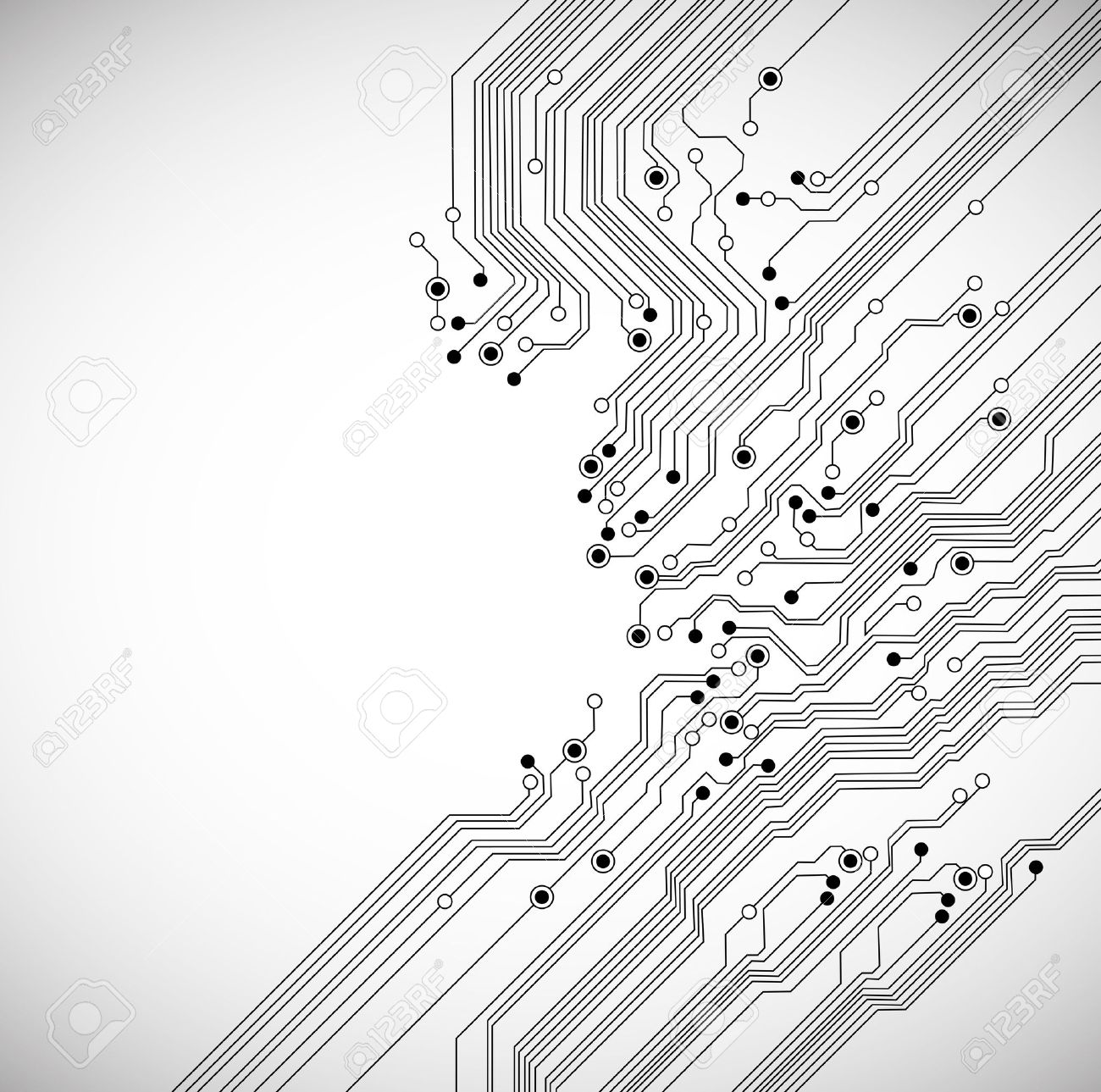 abstract digital technology background with circuit board texture - 11002308