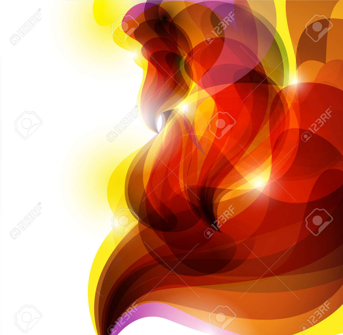 vector abstract red vivid background Stock Vector - 11473866