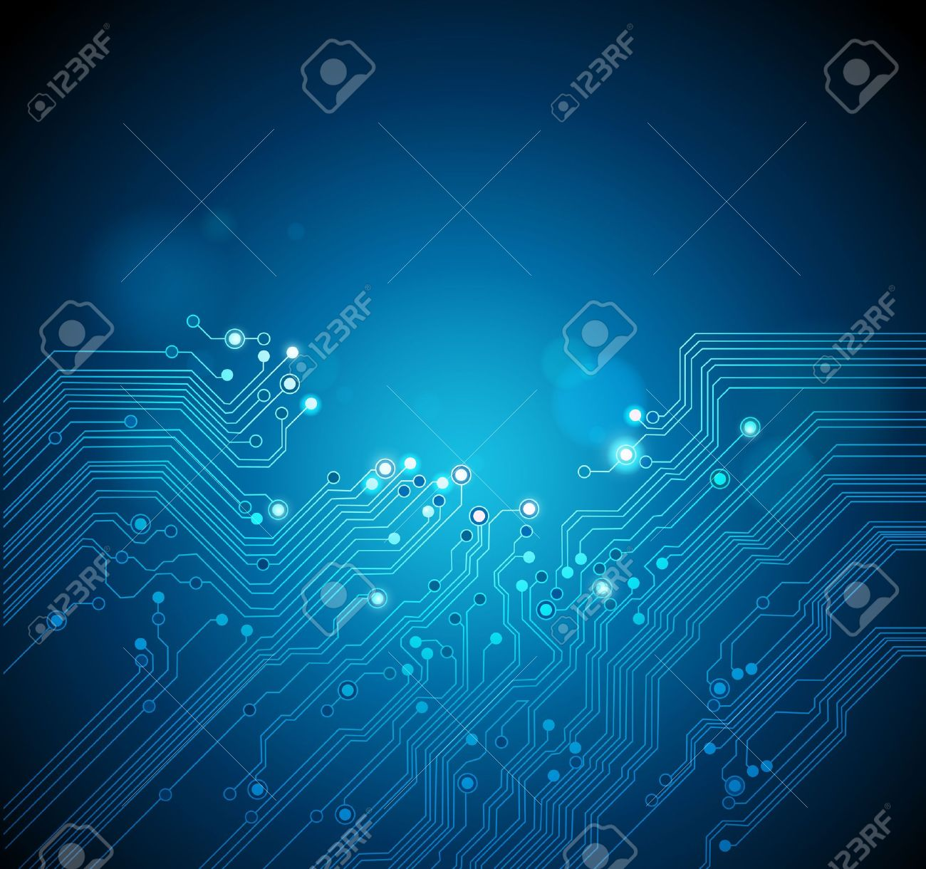 circuit board vector technology background - 11578469