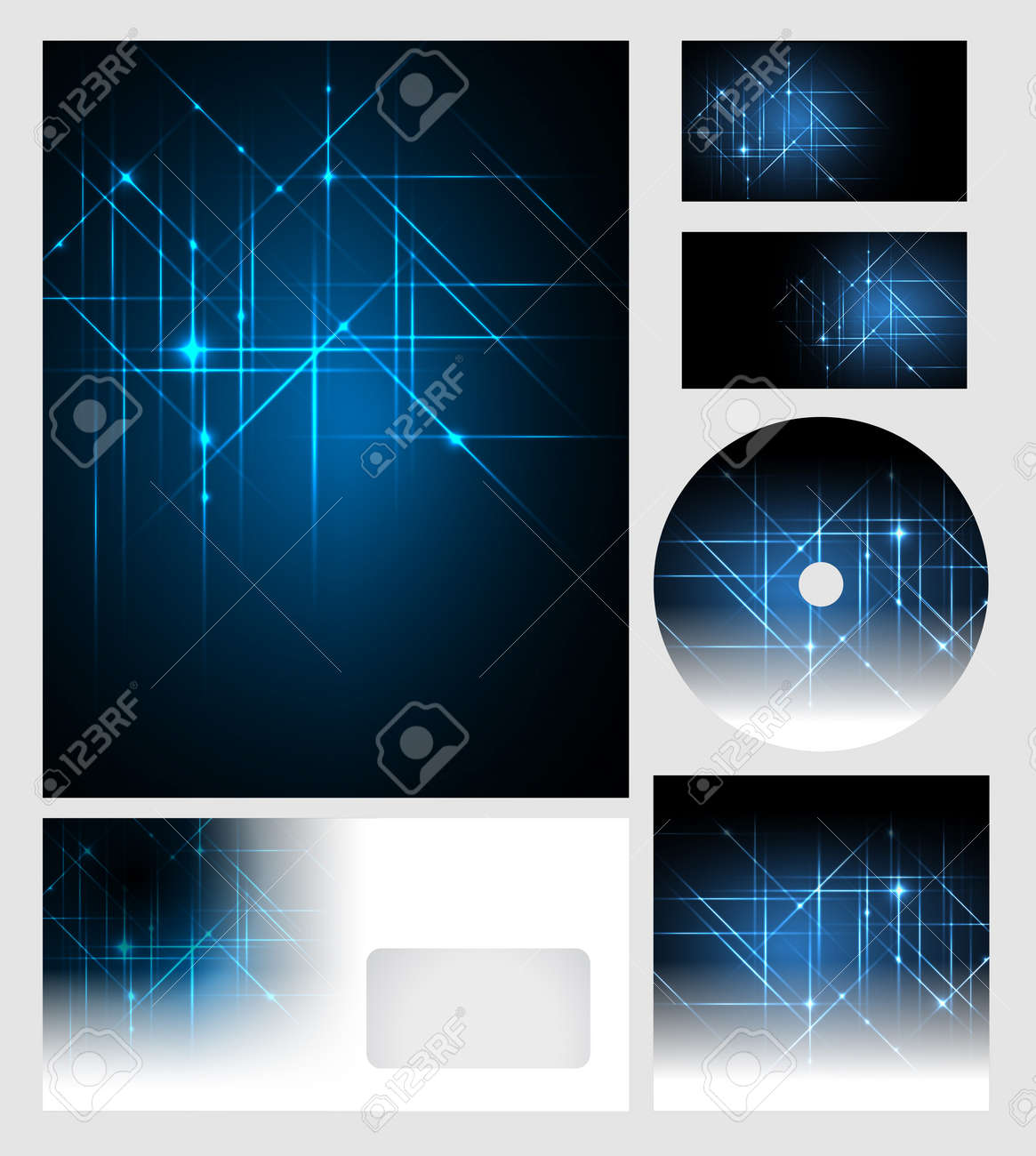 Corporate Identity Templates - Vector - Editable Business Cards ...