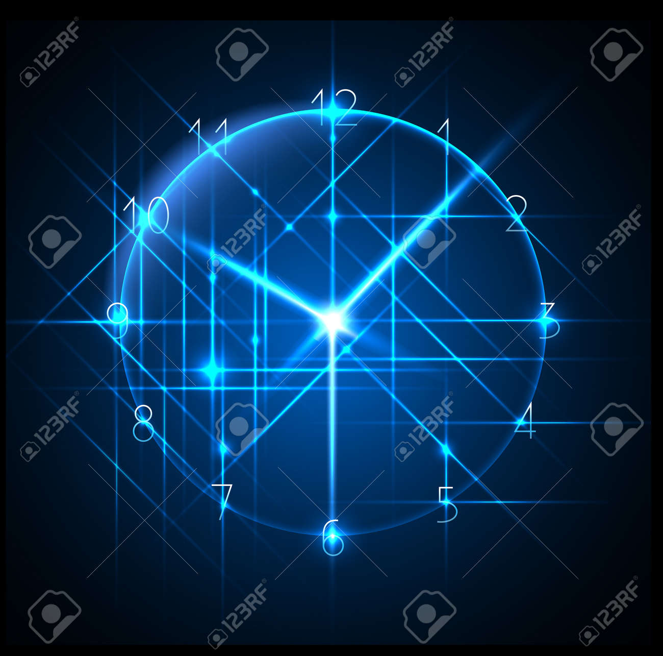 business time - abstract clock background - conceptual vector Stock Vector - 12831314
