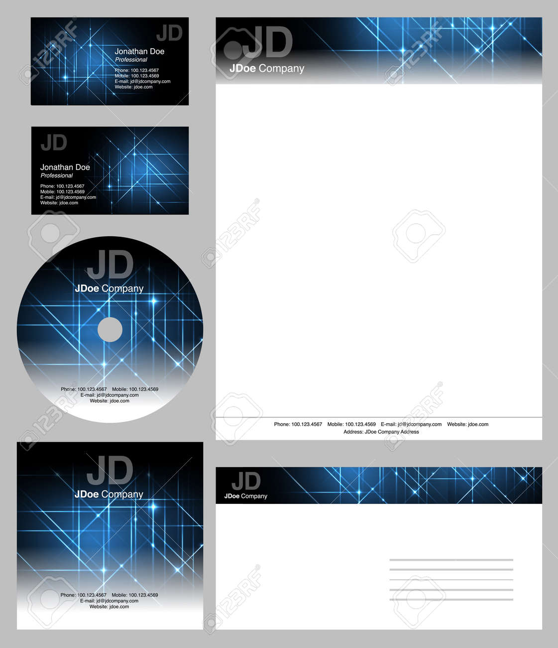 Business Style Templates - Vector Editable Business Cards Design ...