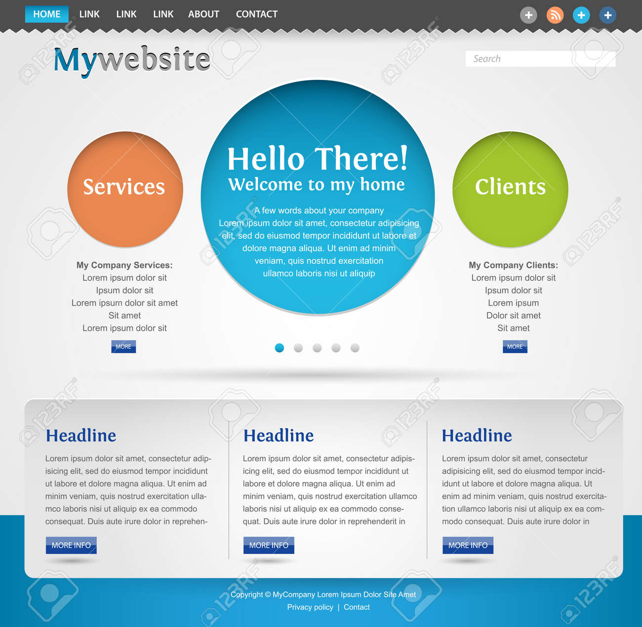 modern creative website template design royalty free cliparts