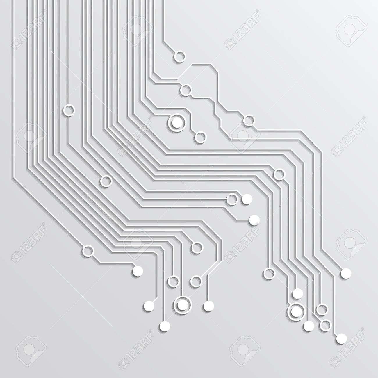 abstract technology background - silver color - 34438520