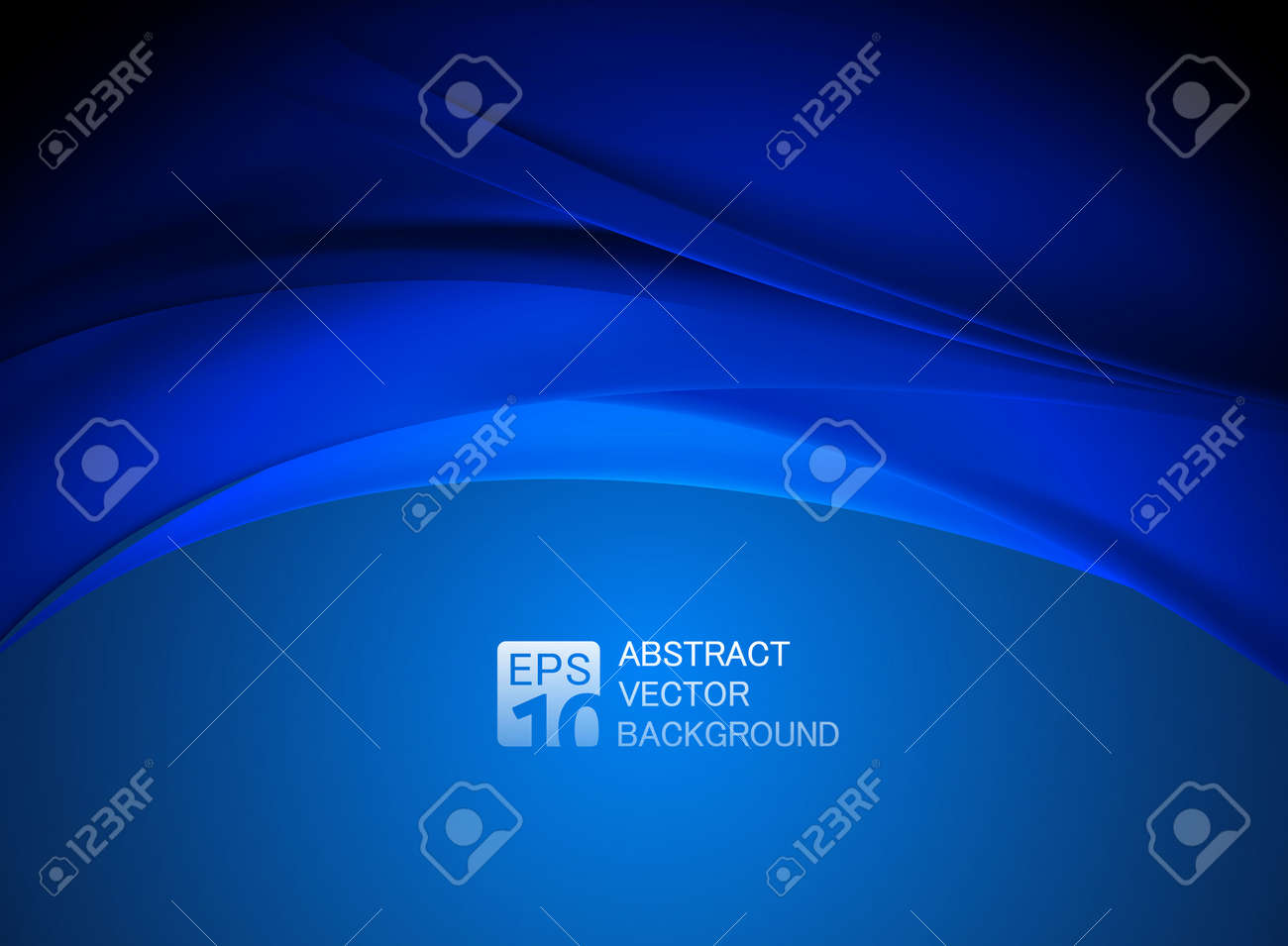 abstract blue wave background Stock Vector - 44590334