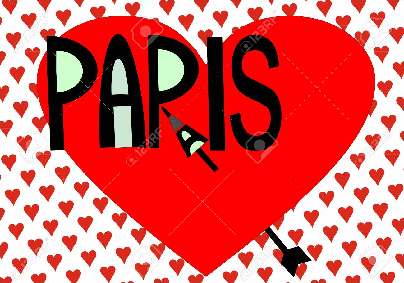 A word cloud of Paris related item Stock Vector - 19491271