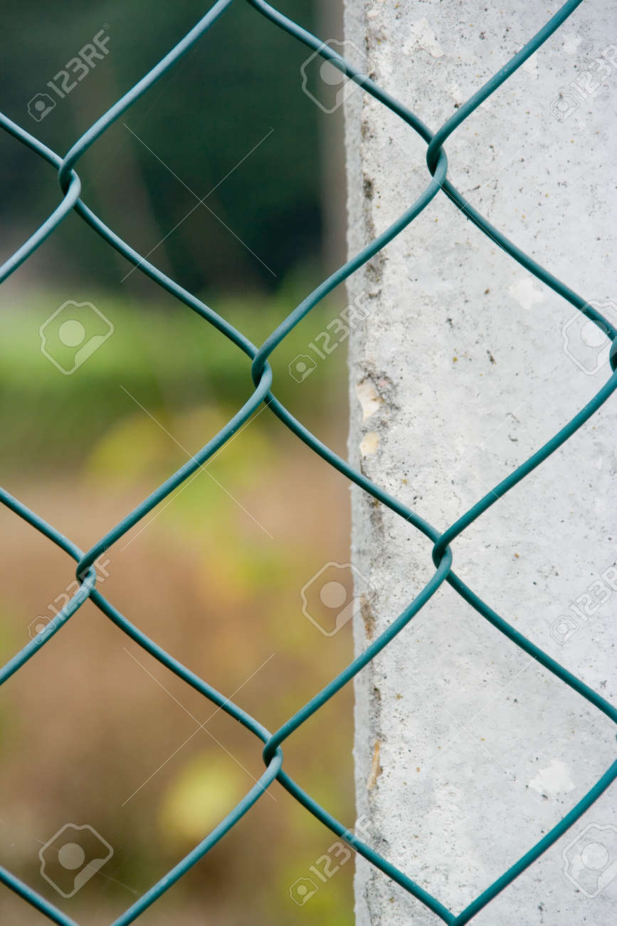 background with fence and wall Stock Photo - 1637569