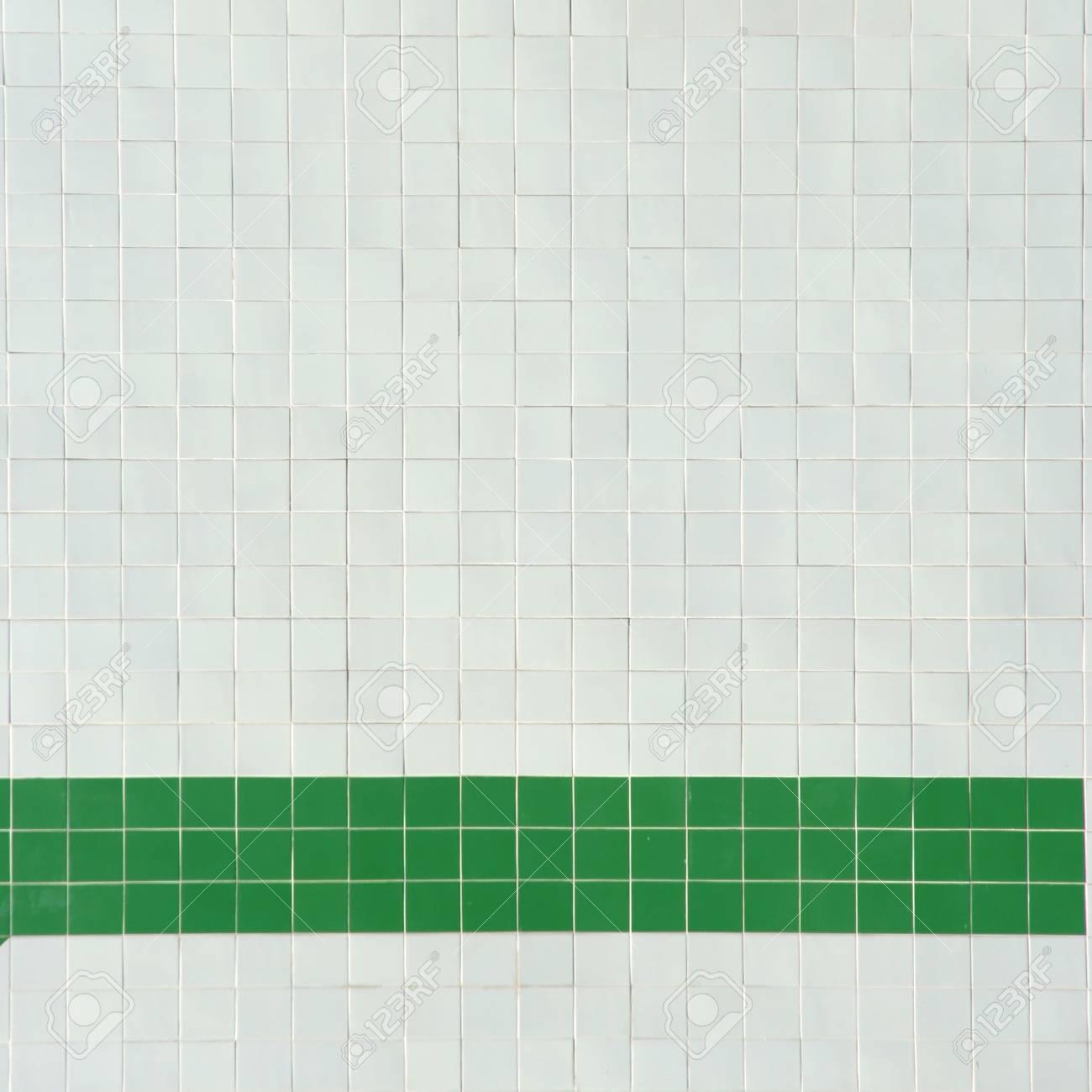 Immagini Stock Quadrato Di Sfondo Bianco E Verde Piastrelle Image