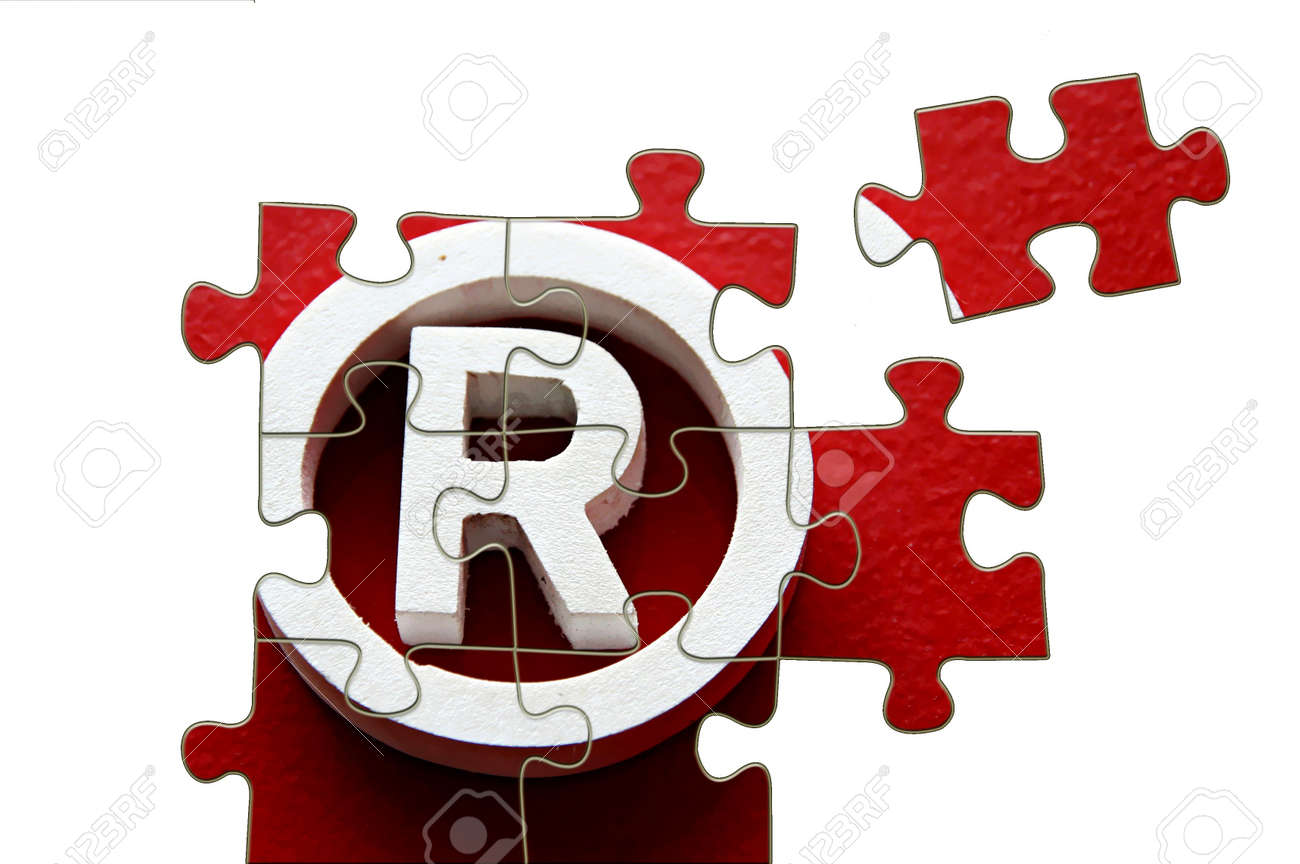 R Registered Trademark - Puzzle Incomplete - Illustration Stock ...