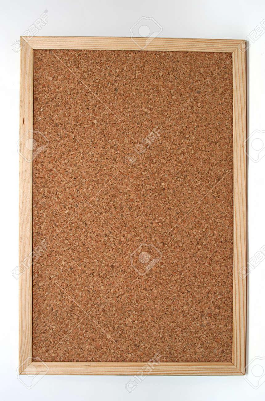 empty cork board in white background Stock Photo - 4343817