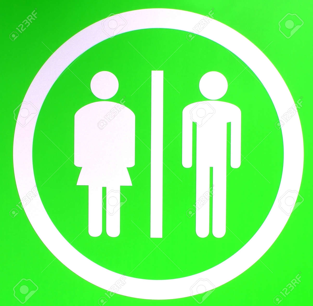 A Toilet Sign For Ladies And Gents Stock Photo Picture And Royalty - Ladies bathroom sign