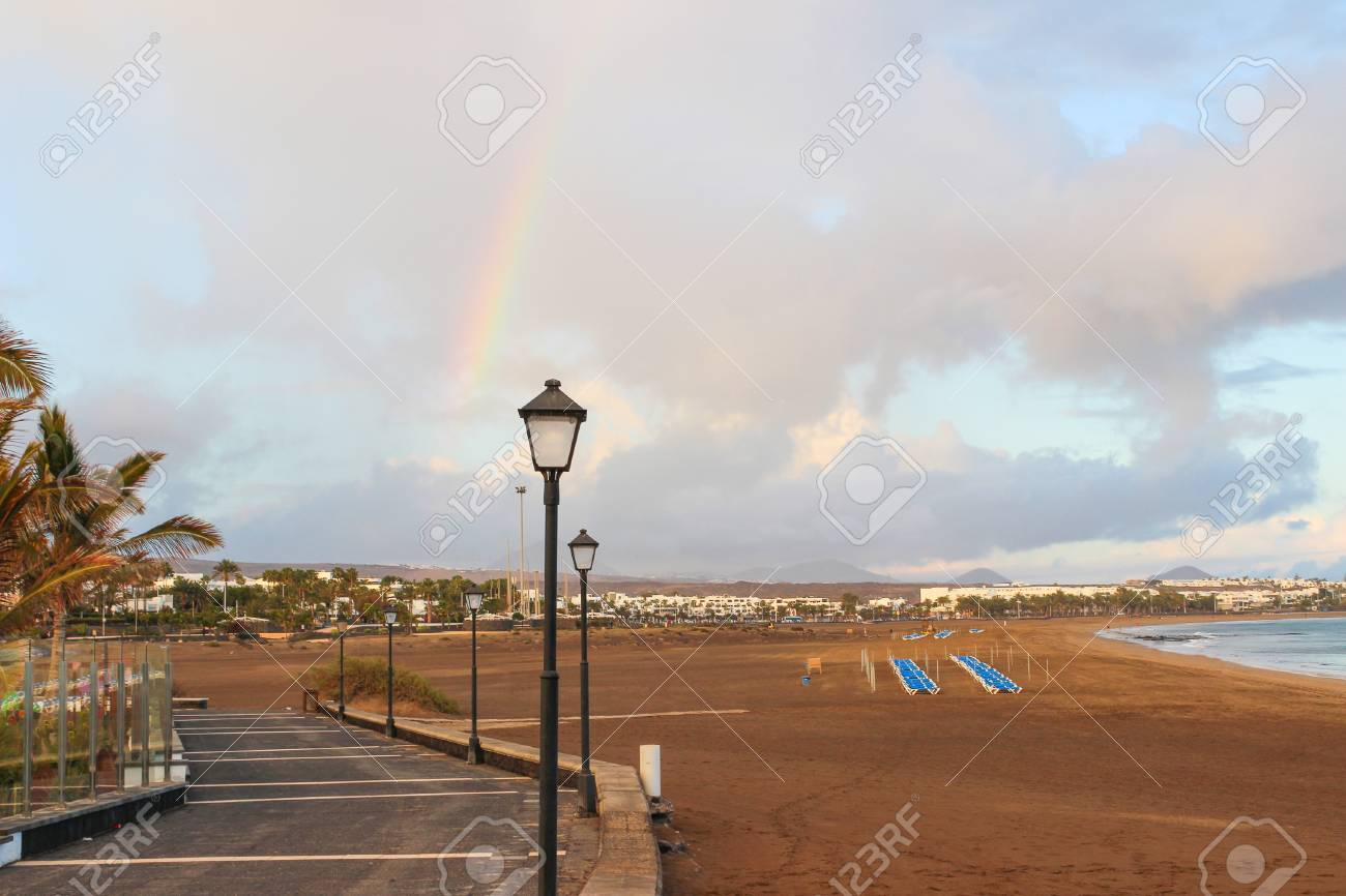 Lanzarote beach, a Spanish island on the Canary Islands in the Atlantic Ocean off the coast of Africa Stock Photo - 28824466