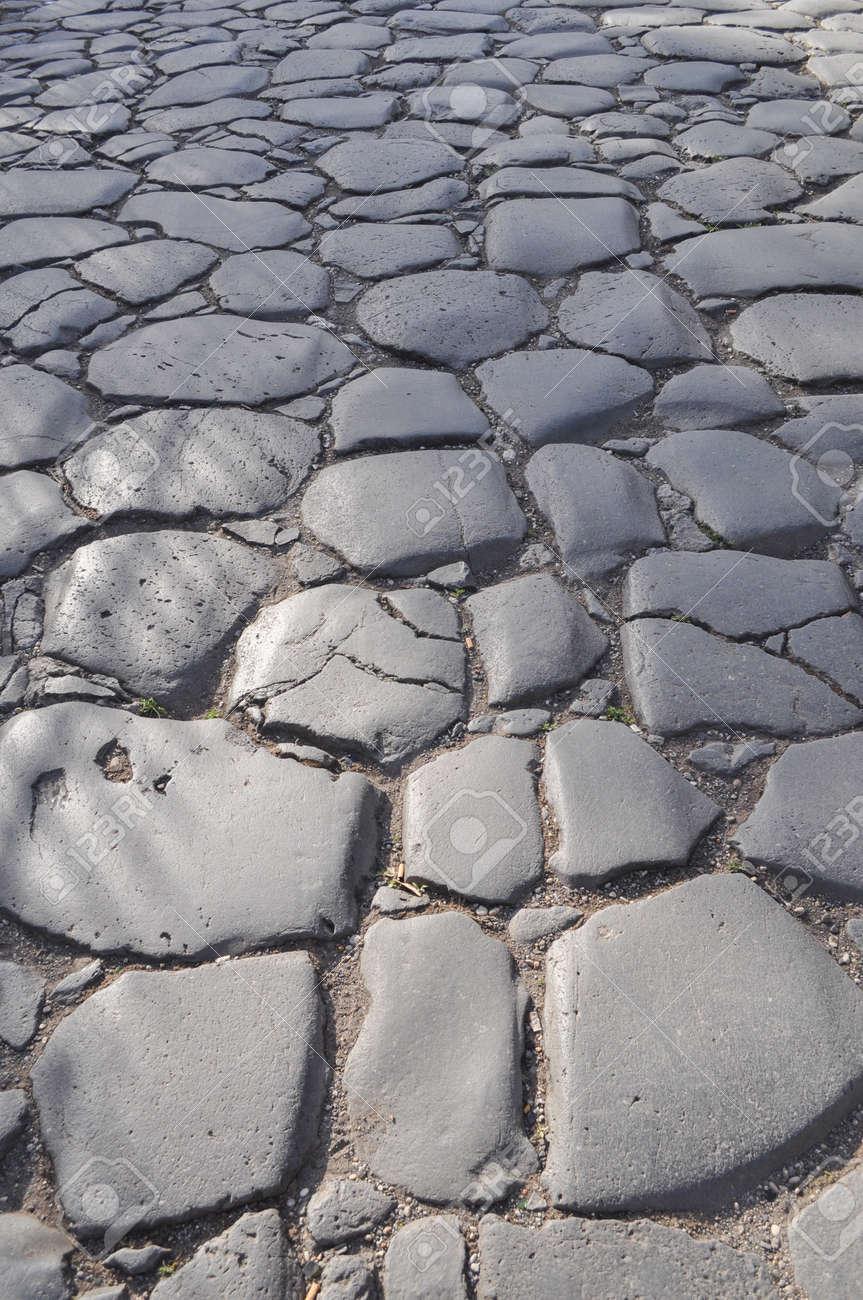 opus irregulares incertum suelo de piedra romano til como fondo foto de archivo