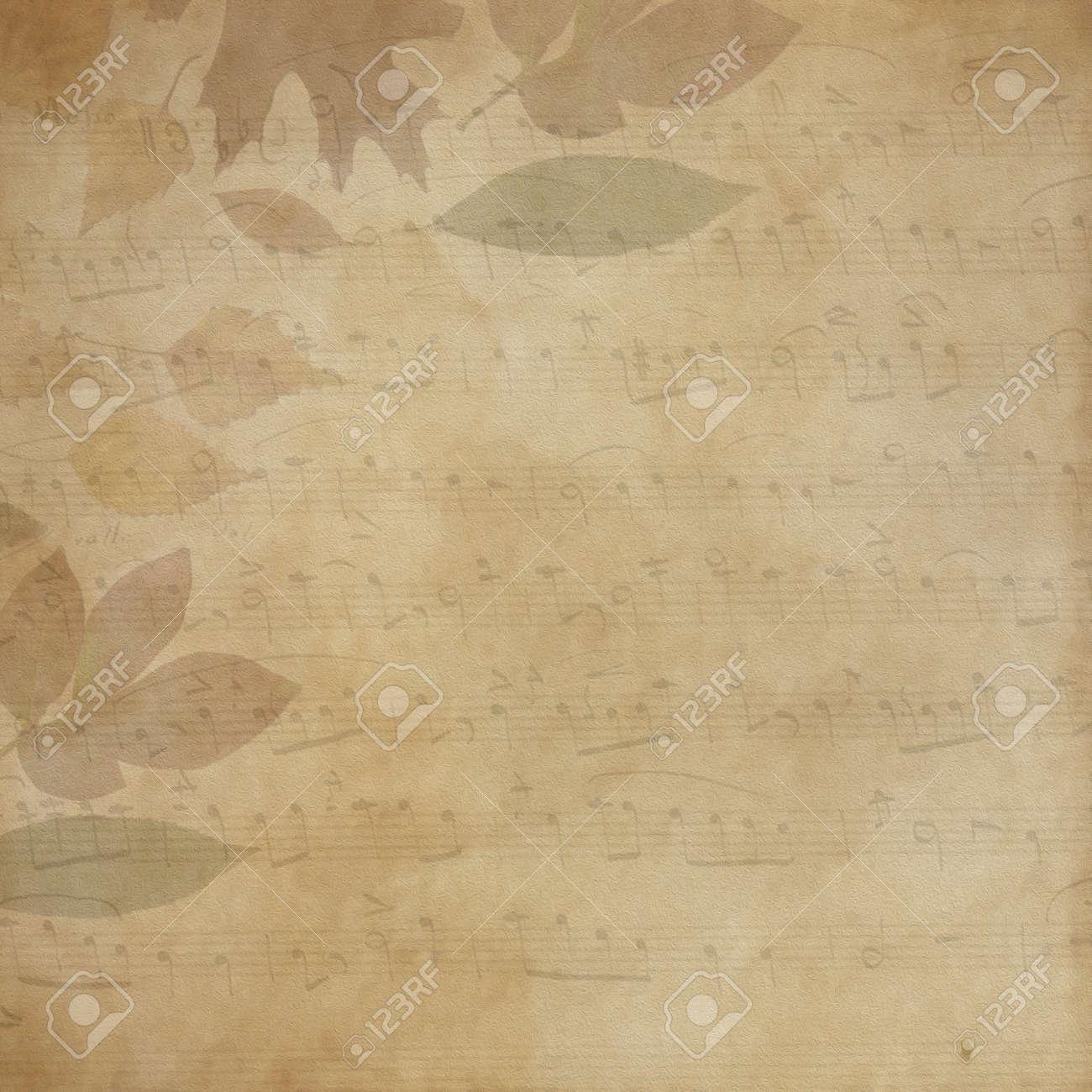 Hintergrund Rahmen Dì Wahre Blätter Und Partitur Für Antike Rahmen ...
