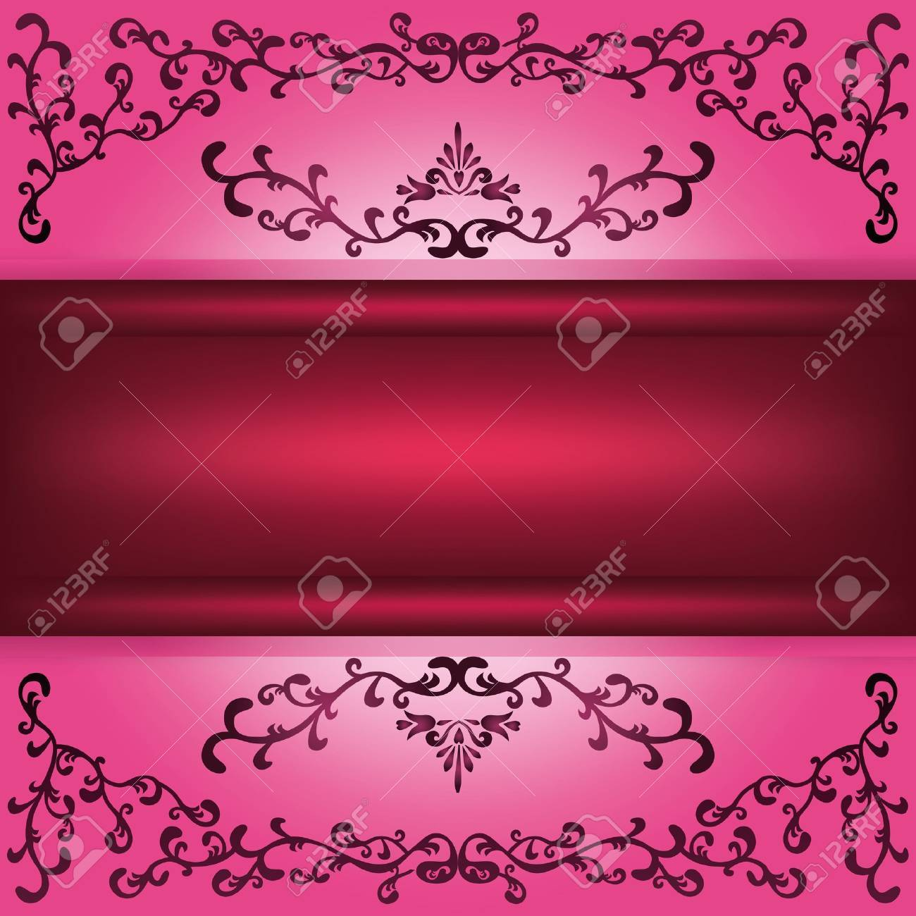 Background with decorative ornament and place for text Stock Vector - 13334260