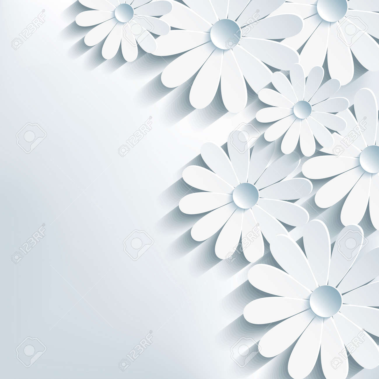 3d flower chamomile, stylish abstract background Stock Vector - 22984878