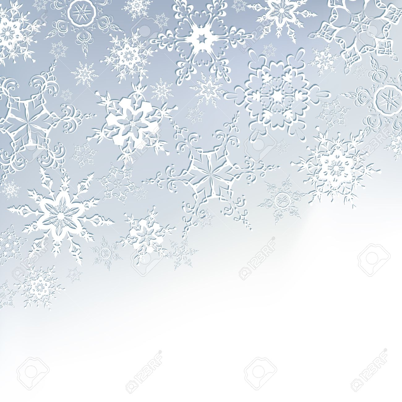 White Christmas Snowflake Backgrounds