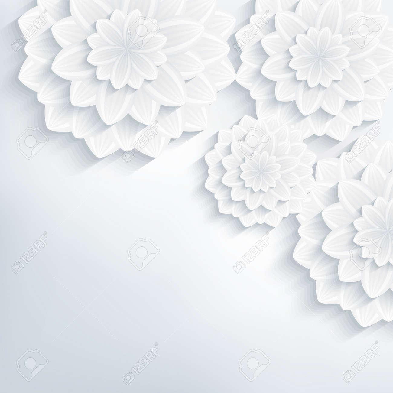 elegant white rose pattern on gold background stock vector