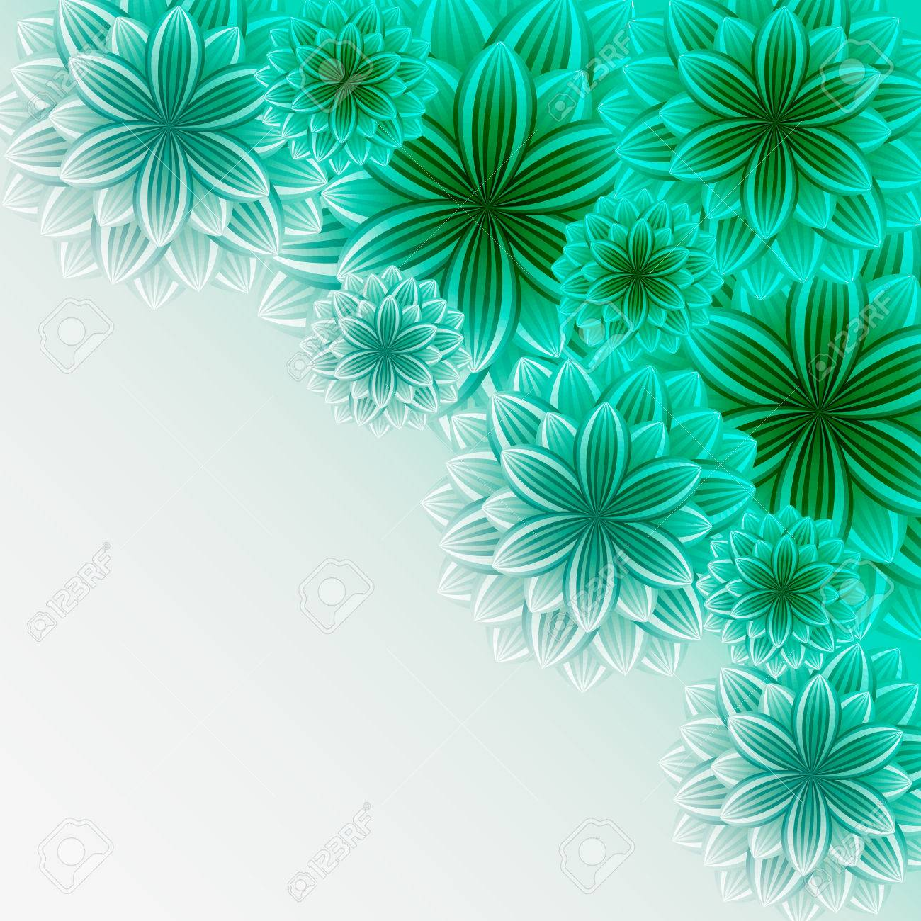 Beautiful Lace Background With Green Flowers Stylish Trendy Romantic  Wallpaper. Greeting Or Invitation Card For