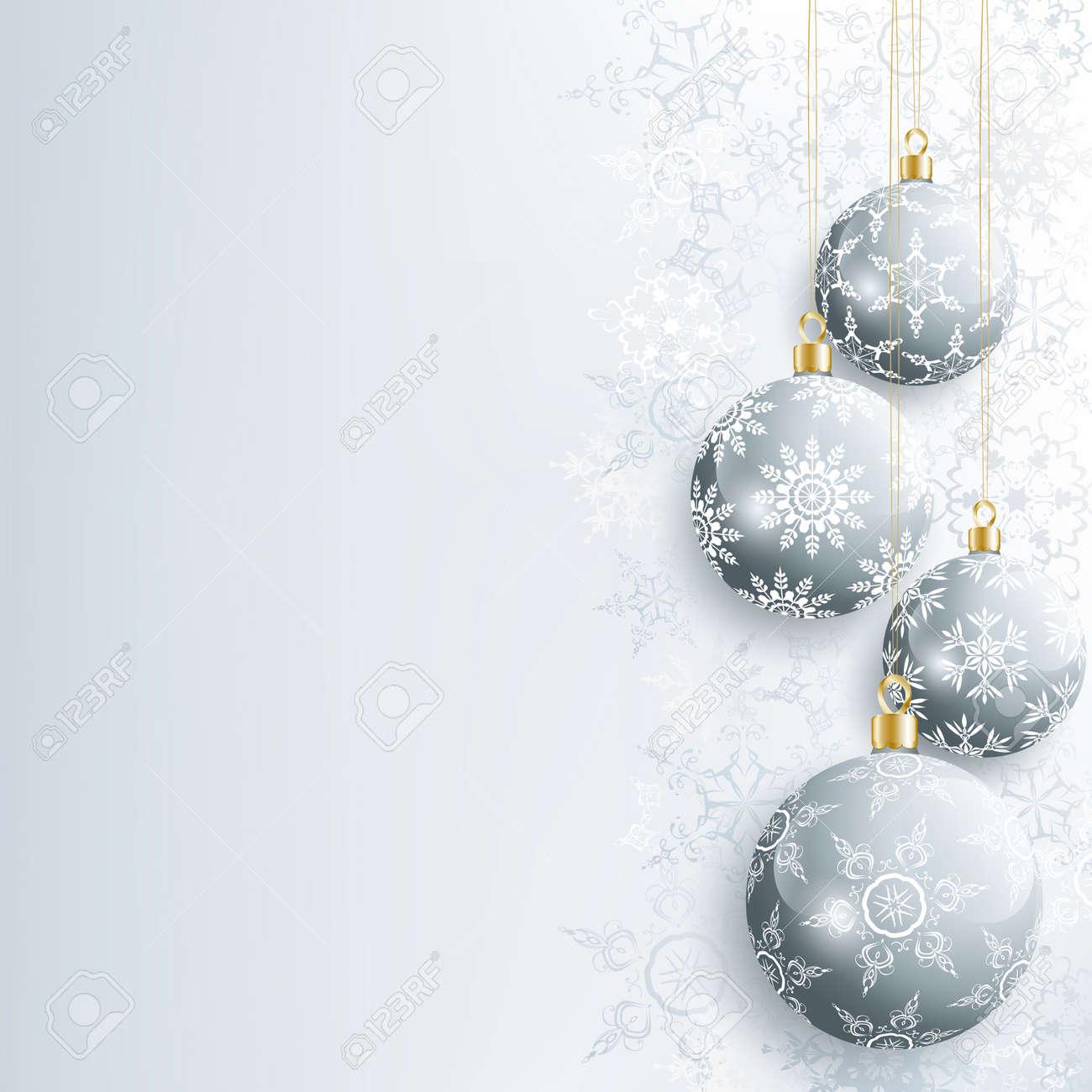 Schöne Festliche Neujahr Und Weihnachten Karte Grau Mit ...