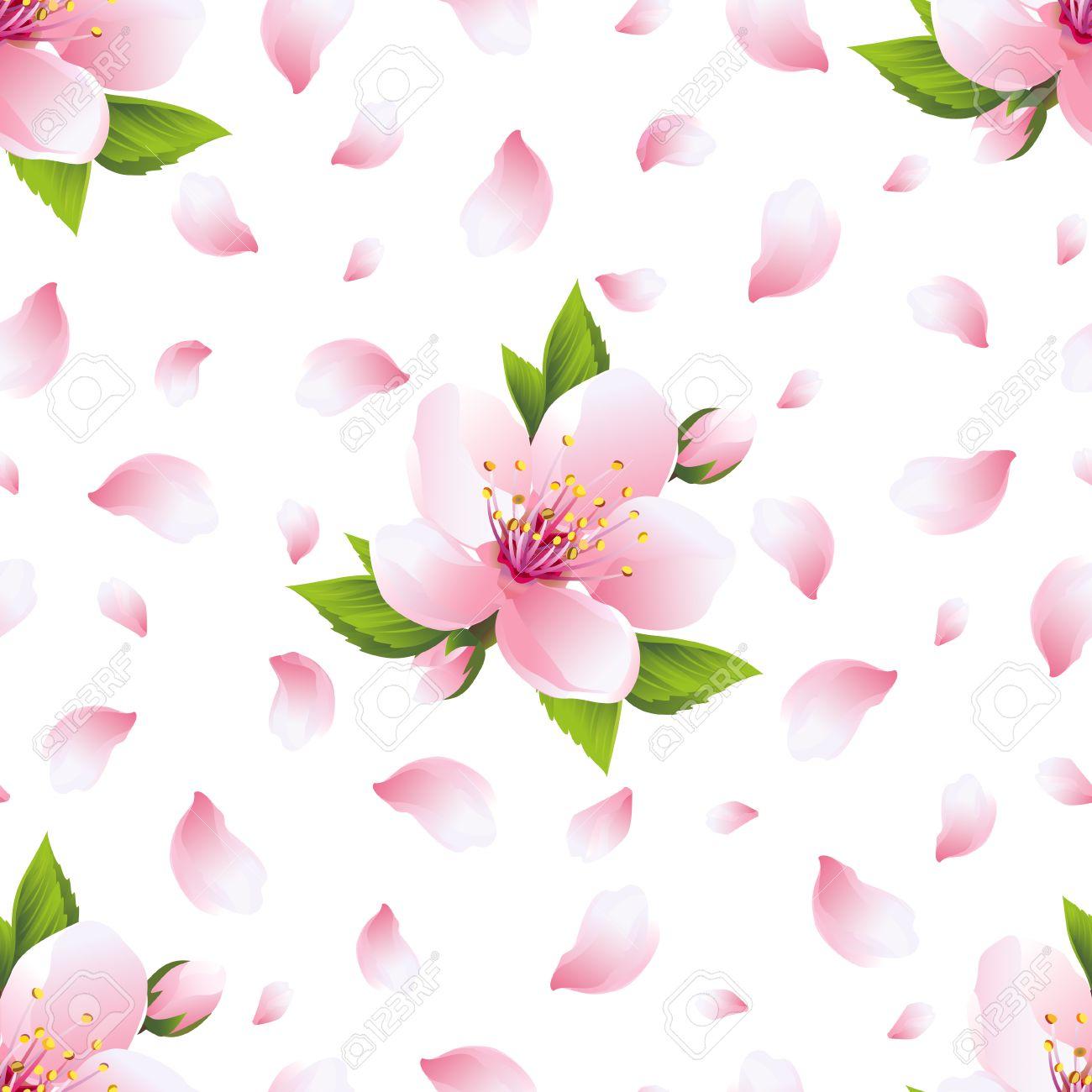 美しい明るい背景桜のピンクの花 日本の桜の木とフライングの花びら