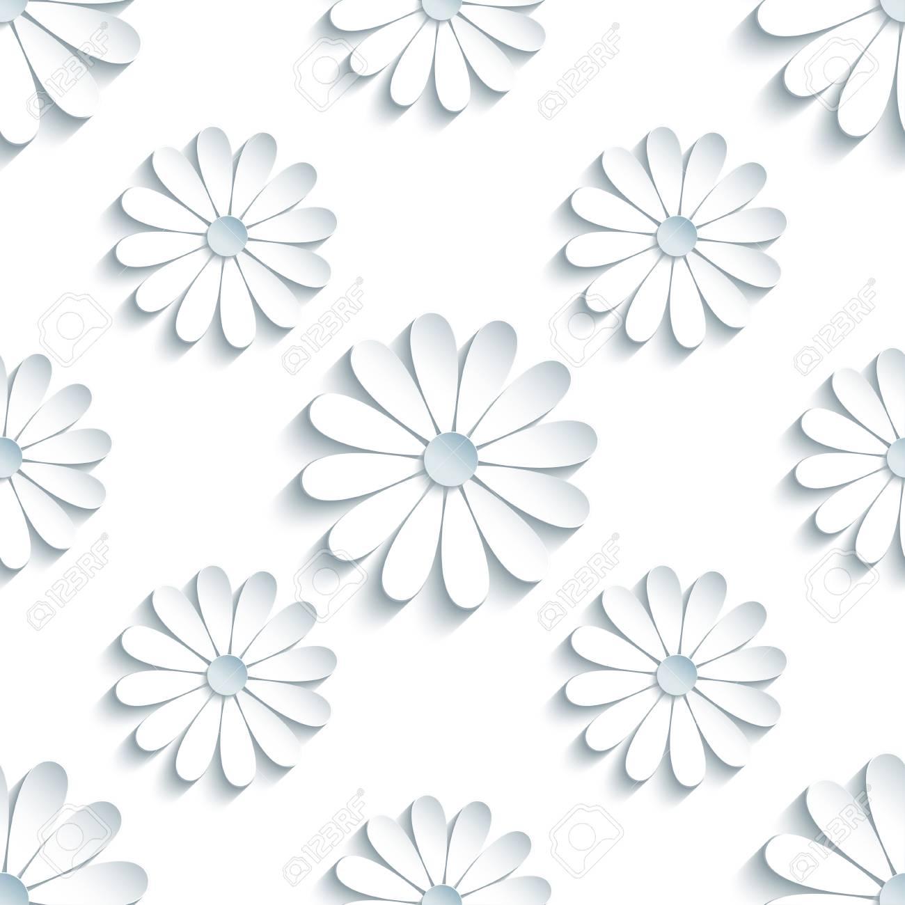Beautiful Modern Light Background Seamless Pattern With White