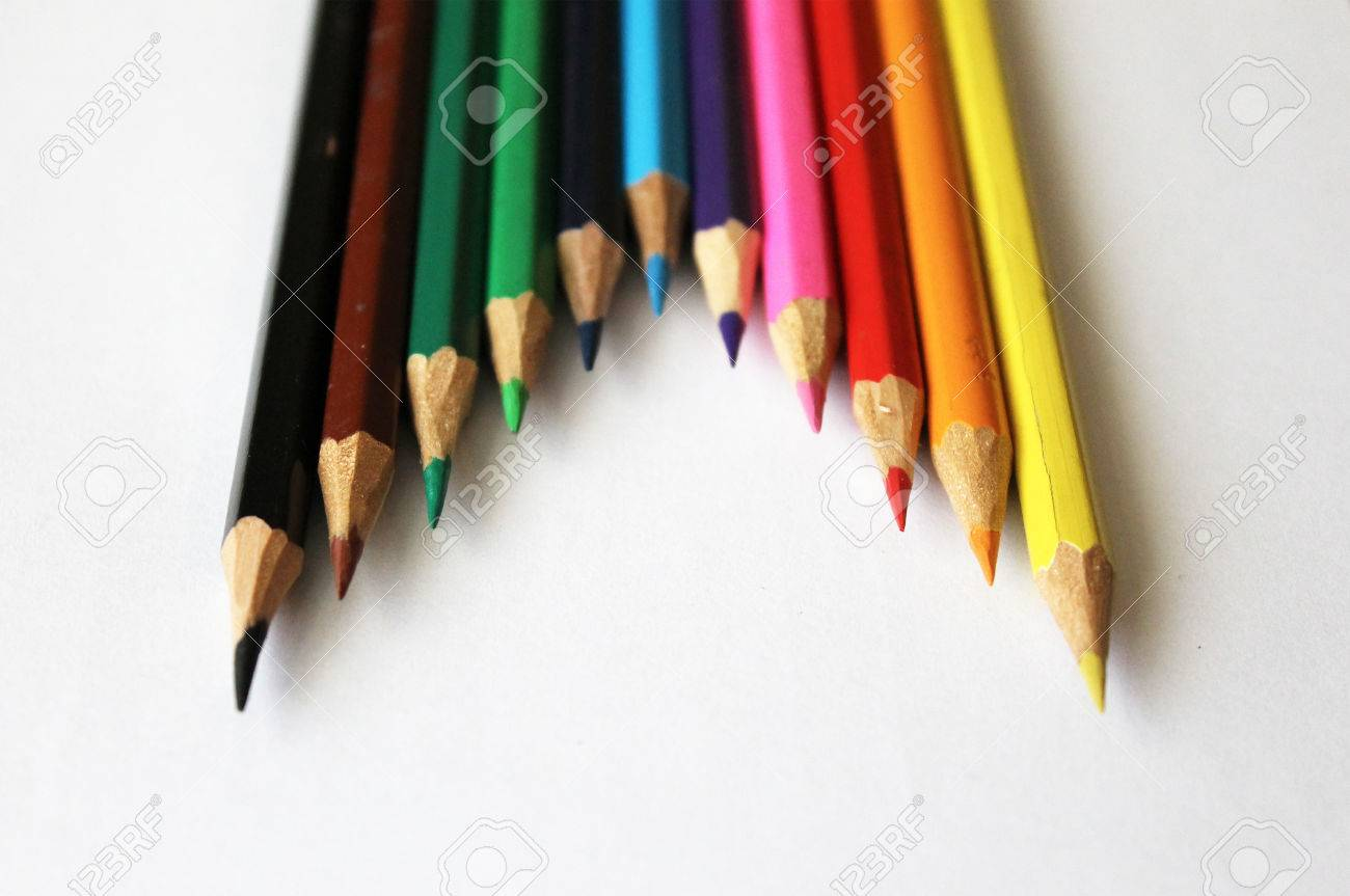 colored pencils office art background child childhood drawing paint art drawing office