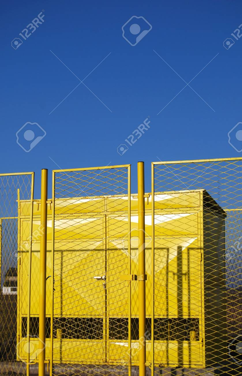 Yellow house for gas instalation Stock Photo - 2527995