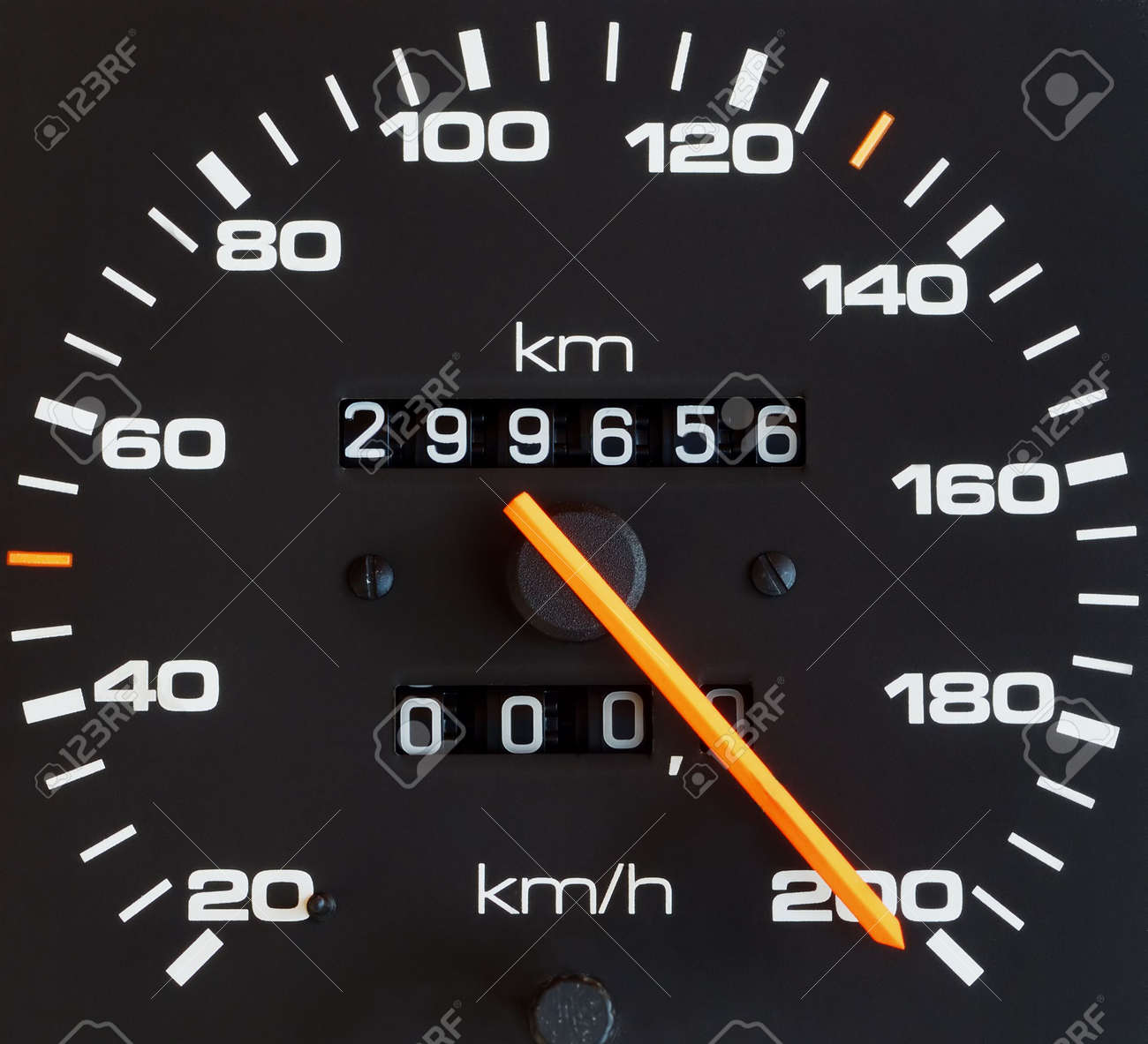 Close up of car speed meter Stock Photo - 3339514