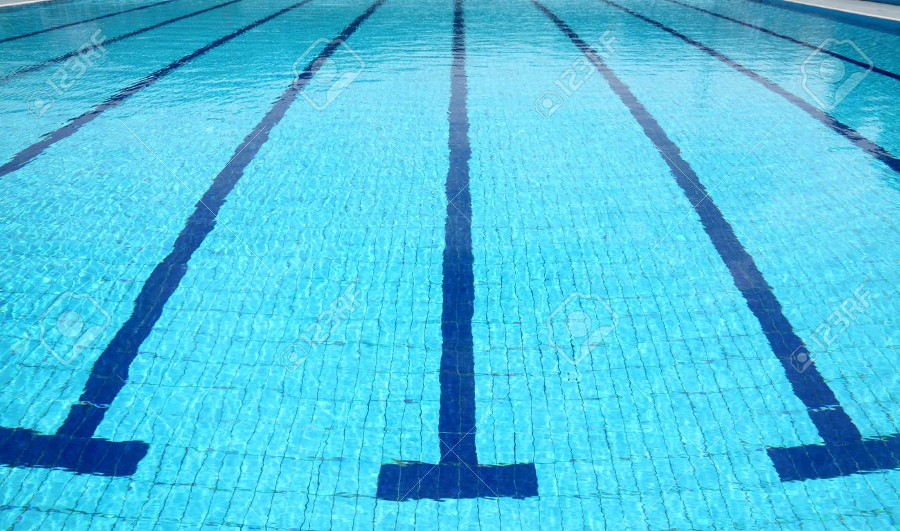 Detail From Open Air Sports Competition Swimming Pool, Water And Lines  Stock Photo   9116530