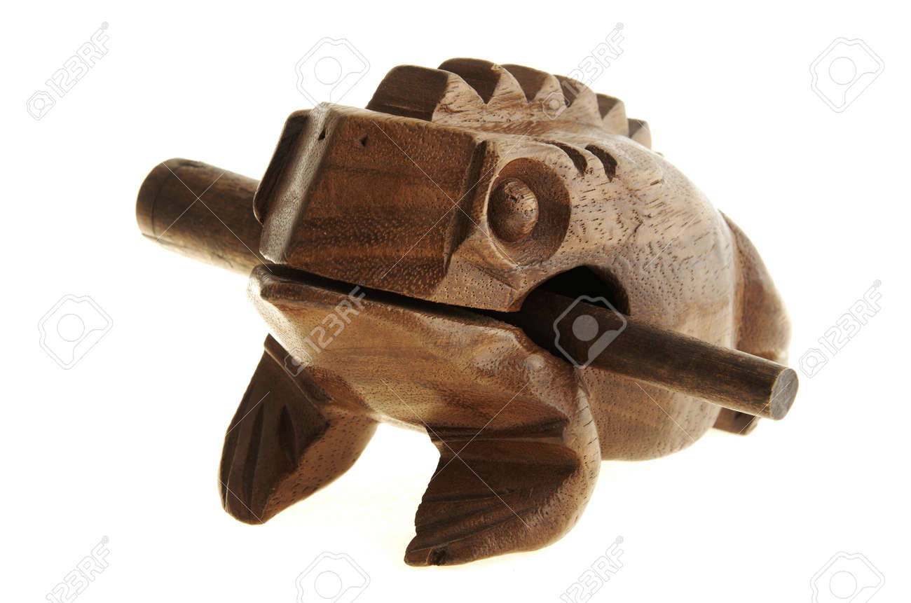 Figurine Of A Frog From The Tree. Stock Photo, Picture And Royalty ...