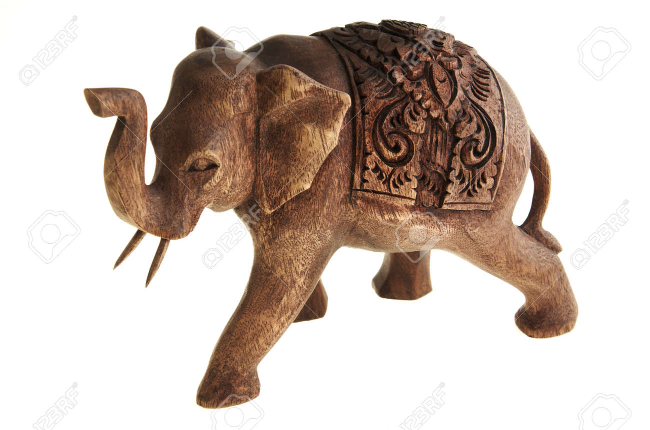 The figure of the elephant from a tree. Stock Photo - 17125043