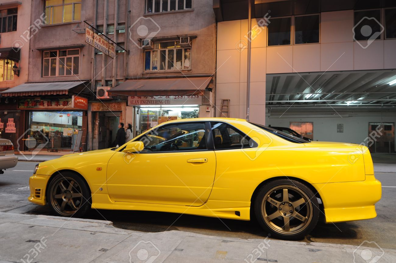 Nissan images stock pictures royalty free nissan photos and nissan fortress hill hong kong march 25 2011 a yellow tuned vanachro Images