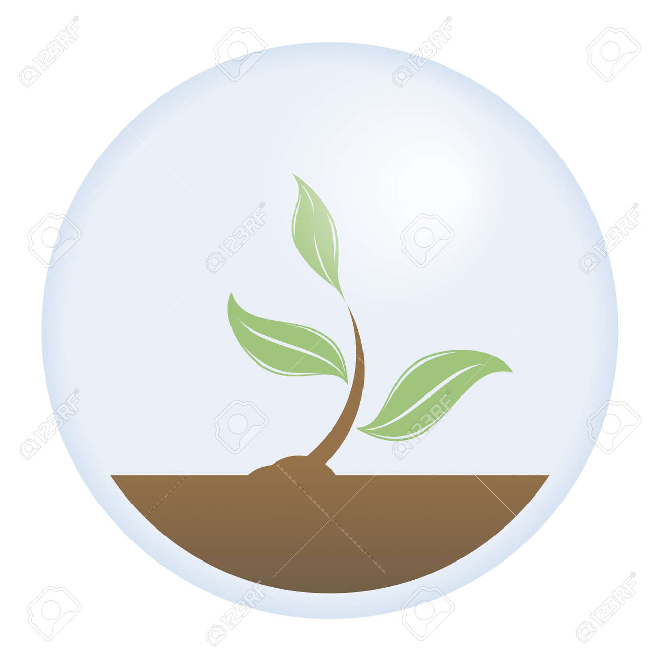 Vector illustration of a protected young tree. The need to save our planet and the important roll of trees on it. - 2885687