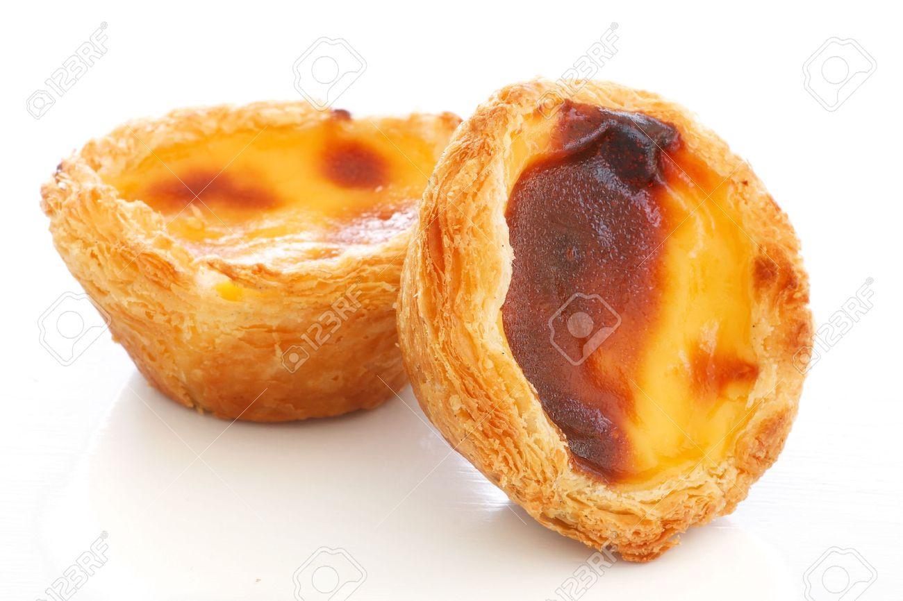Typisch Portugiesische Pudding Kuchen Pastel De Nata Oder Pastel De