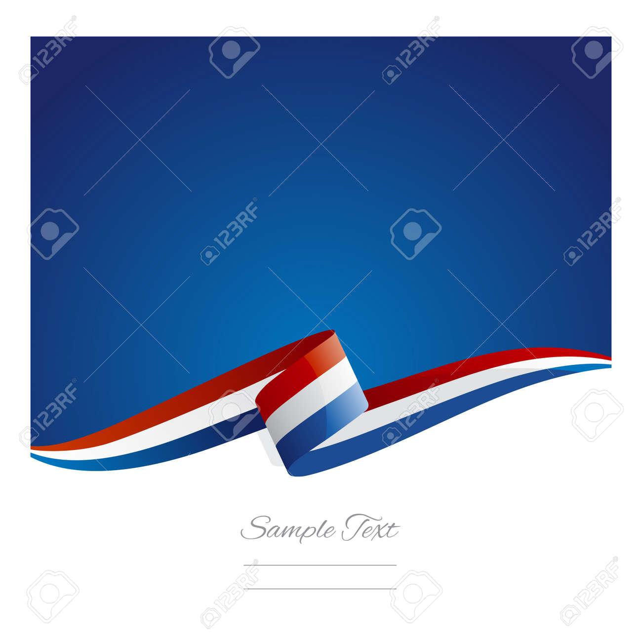 New abstract Netherlands flag ribbon - 41622621