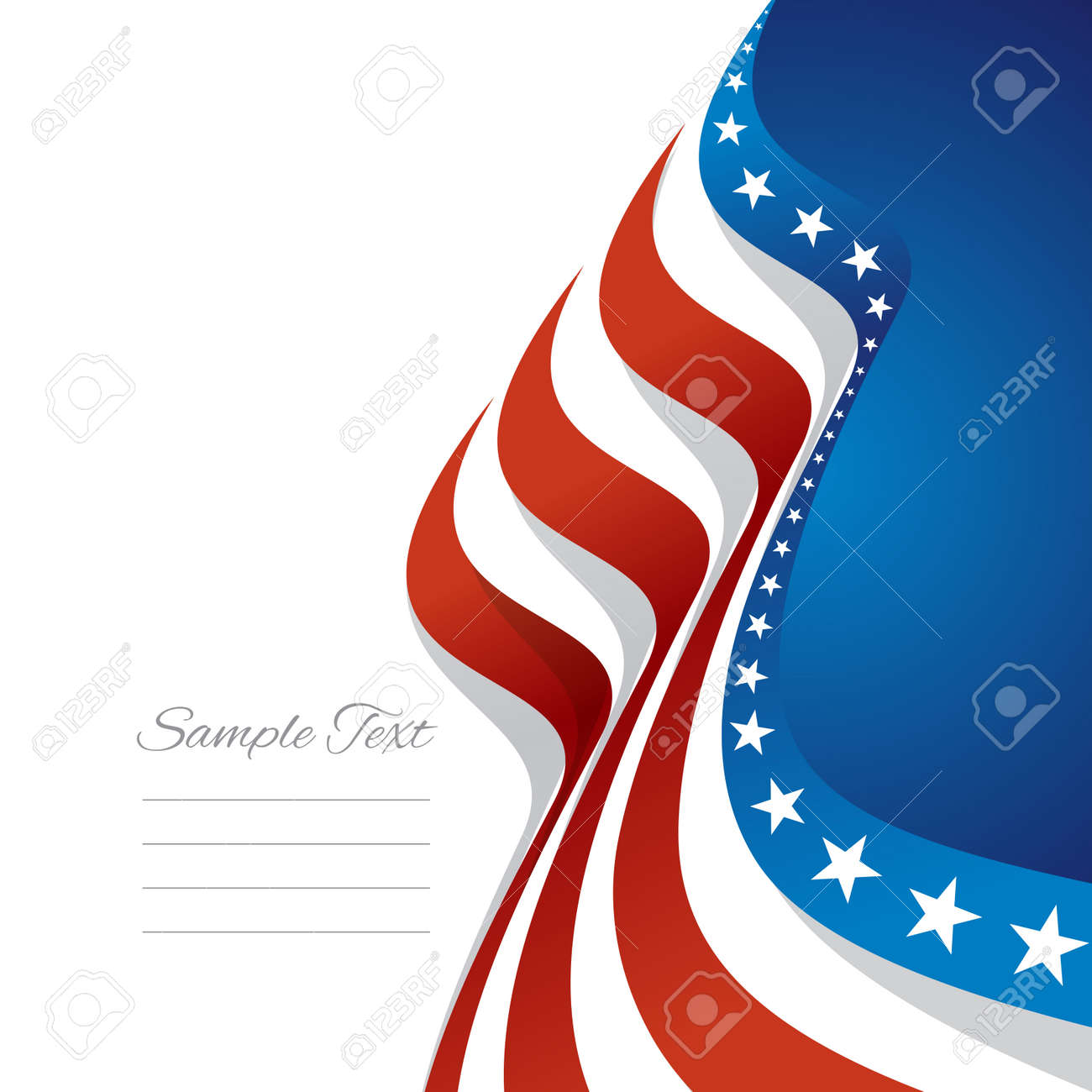Abstract Us Flag Right Cover Blue Background Vector Royalty Free Cliparts Vectors And Stock Illustration Image 41657450