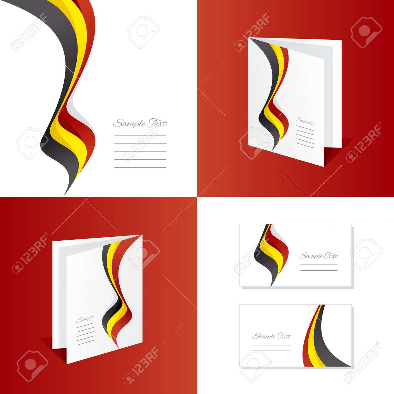 Brochure De Depliant Belgique Carte Visite Clip