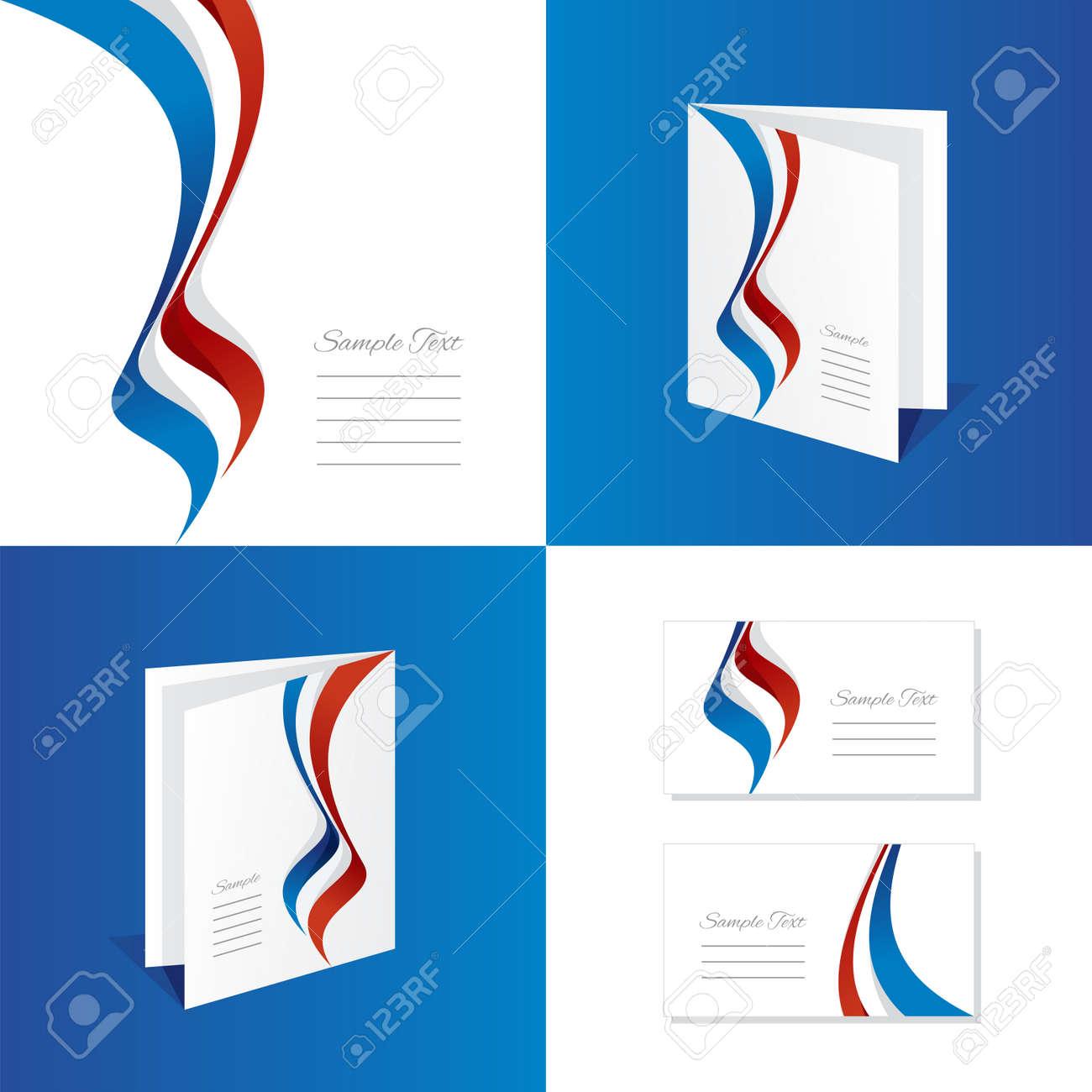 Abstract France Brochure Leaflet Folder Cover Business Card Royalty