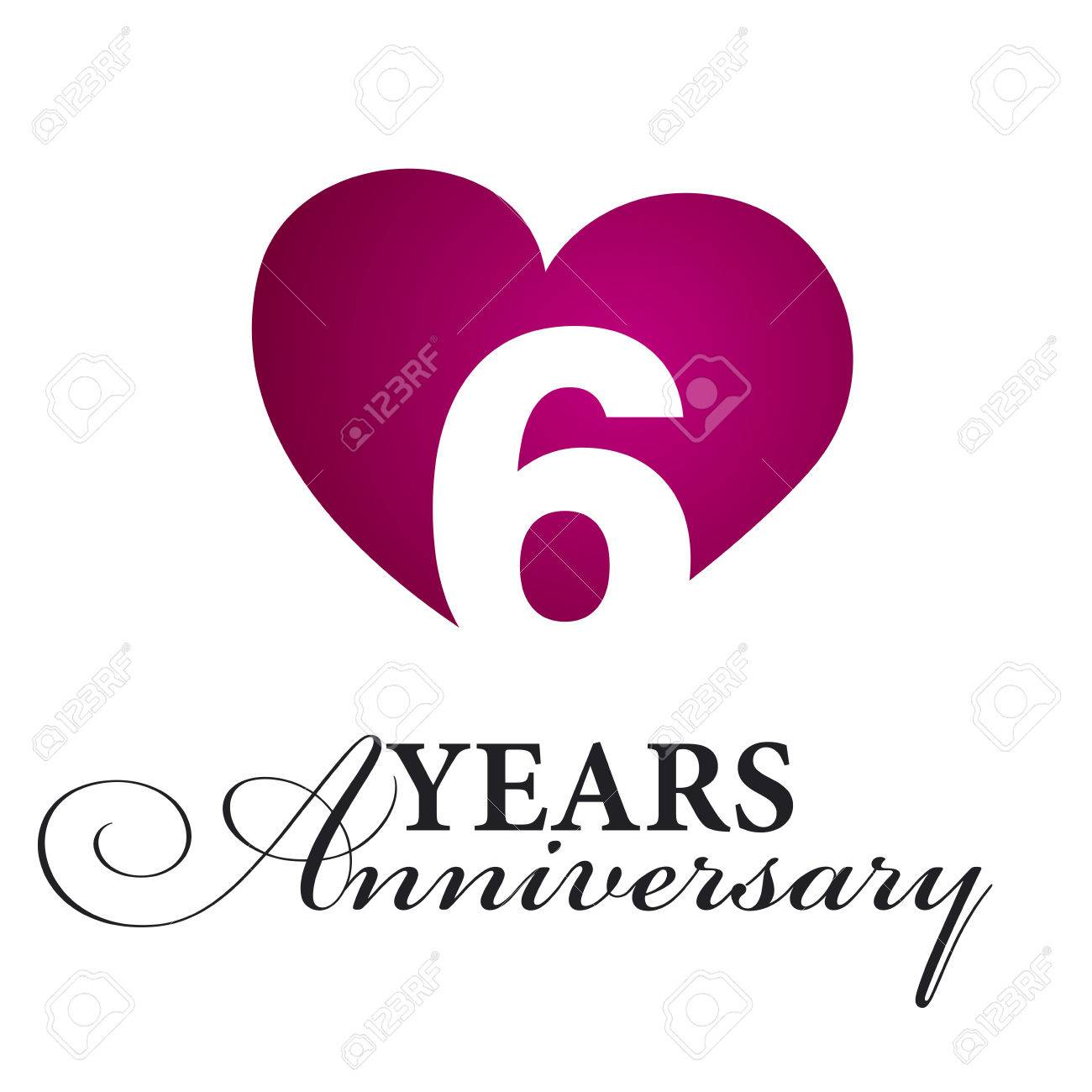 6 Years Anniversary White Background Royalty Free Cliparts Vectors And Stock Illustration Image 51293419