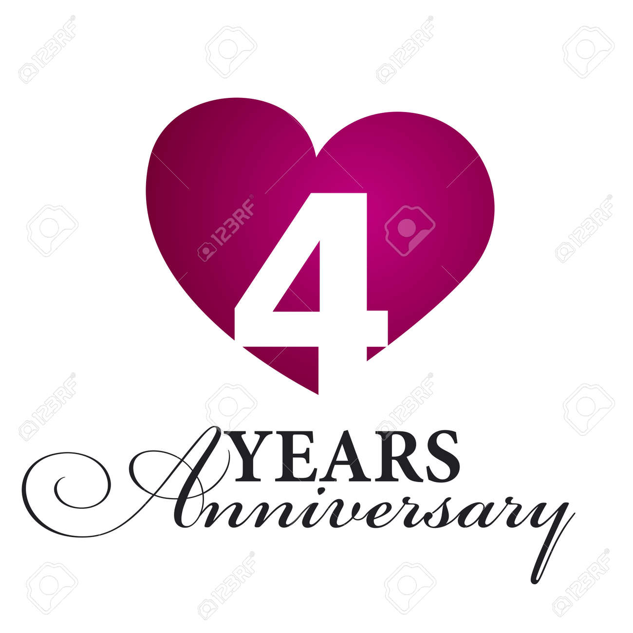 Image result for free image 4 year anniversary