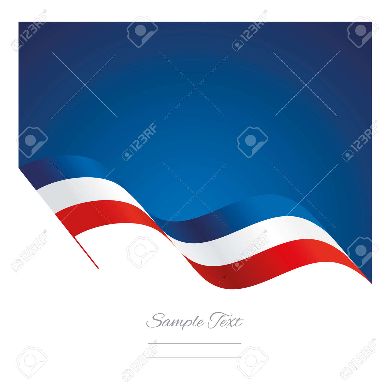 France abstract wave flag ribbon background - 60181078