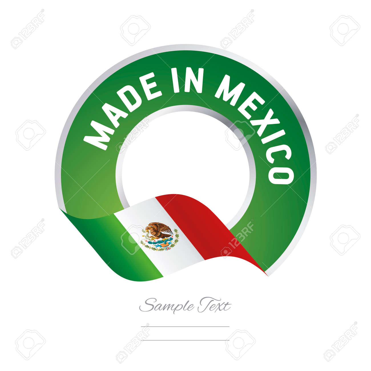 made in mexico flag green color label button logo icon banner rh 123rf com tequila made in jalisco mexico logo made in mexico logo shirt