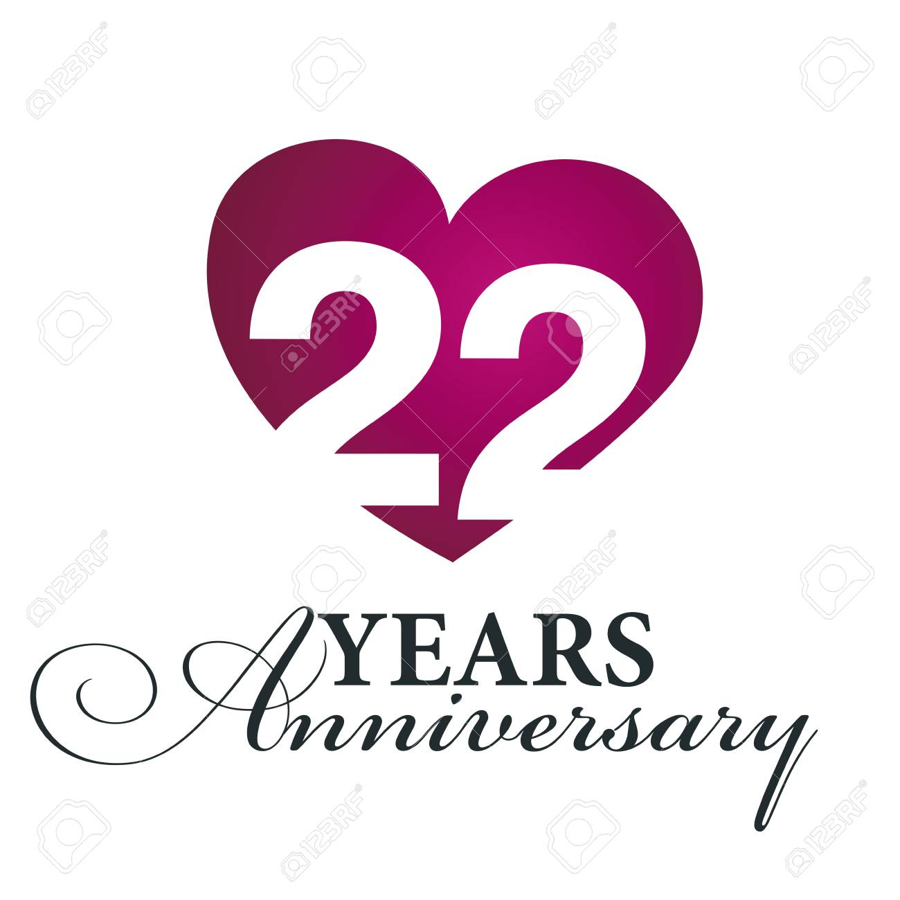 22 years anniversary symbol royalty free cliparts vectors and